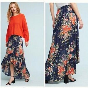 Anthropologie On The Road Wrap Floral Hi-low Maxi